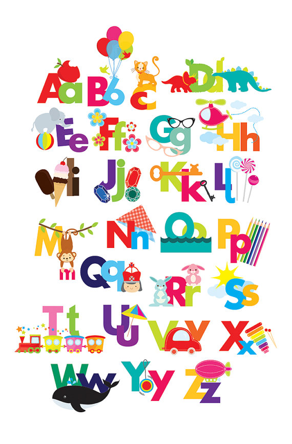 The alphabet clipart clip royalty free library Alphabet clipart - illustrated alphabet, teaching clip art ... clip royalty free library