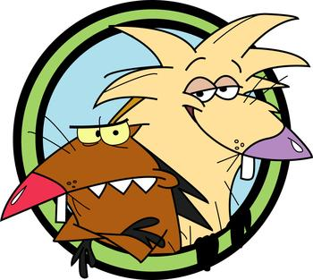 The angry beavers clipart png download Cartoons (old v/s new): Angry Beavers v/s Adventure Time ... png download