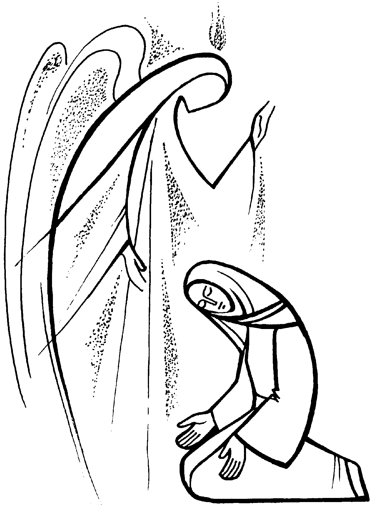The annunciation clipart jpg black and white library Annunciation Clipart Group with 68+ items jpg black and white library