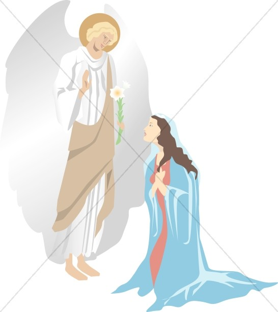 The annunciation clipart banner royalty free stock The Annunciation of Christ   Nativity Clipart banner royalty free stock