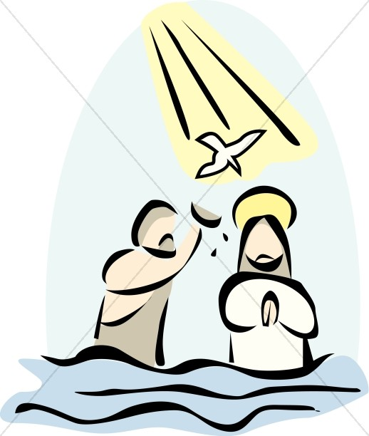 The baptism of jesus clipart graphic stock Jesus Baptized by John in the River Jordan | Baptism of the ... graphic stock
