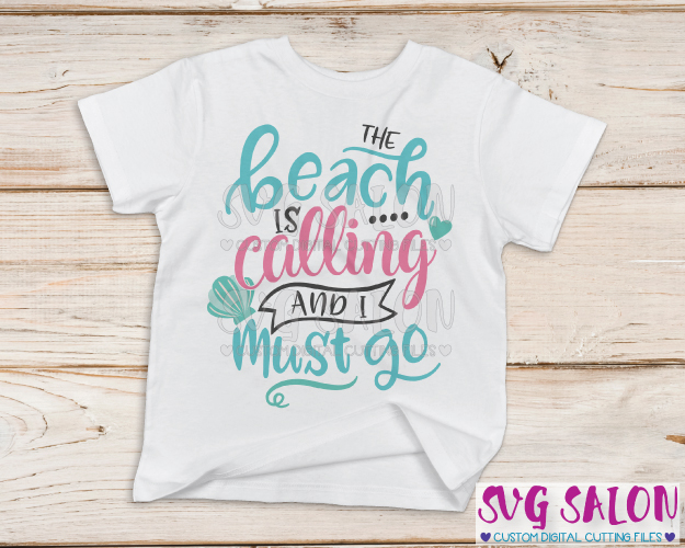 The beach is calling and you must go clipart picture black and white download The Beach Is Calling And I Must Go Cut File in SVG, EPS, DXF, JPEG, and PNG picture black and white download