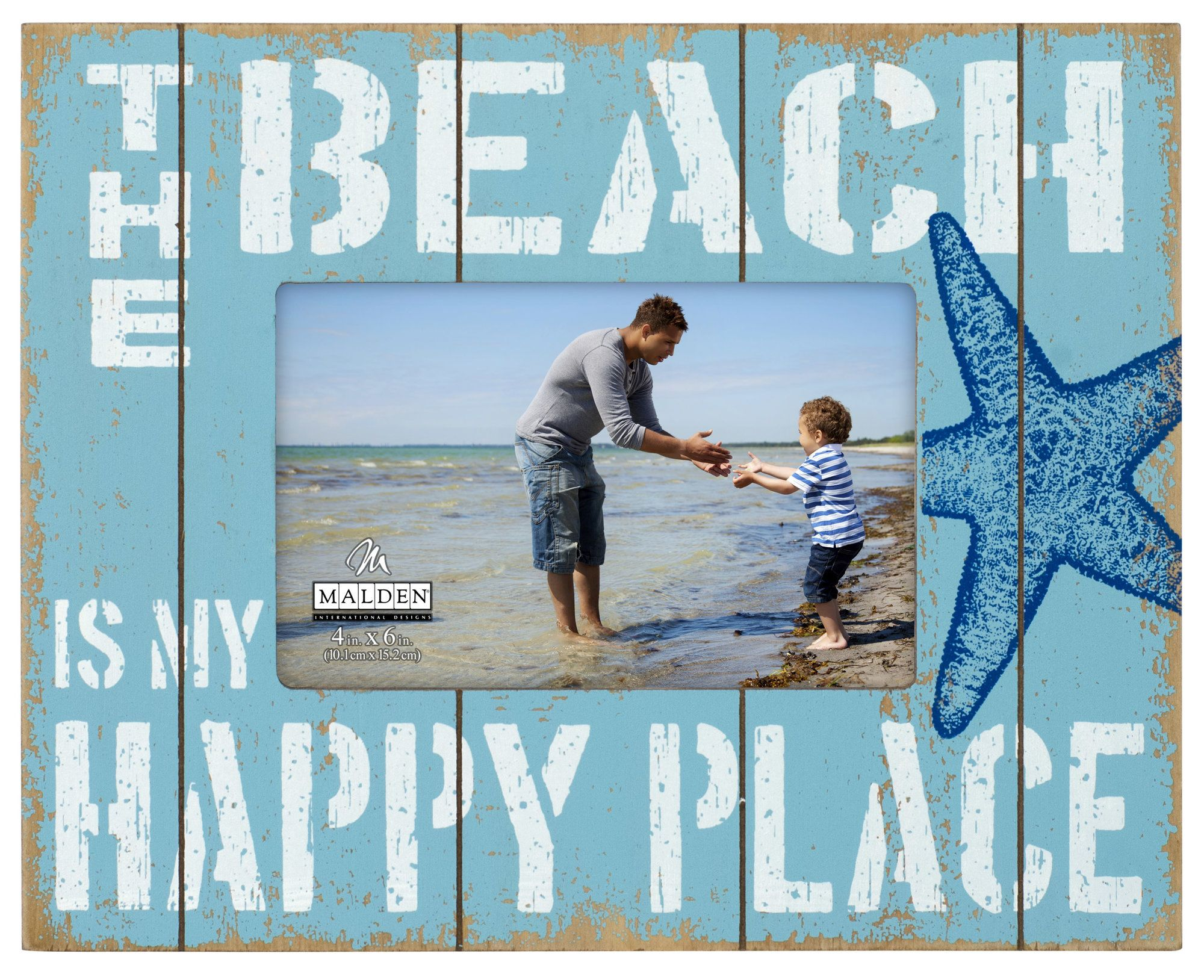 The beach is my happy place clipart clip black and white stock Beach is my Happy Place Picture Frame | Products | Picture ... clip black and white stock
