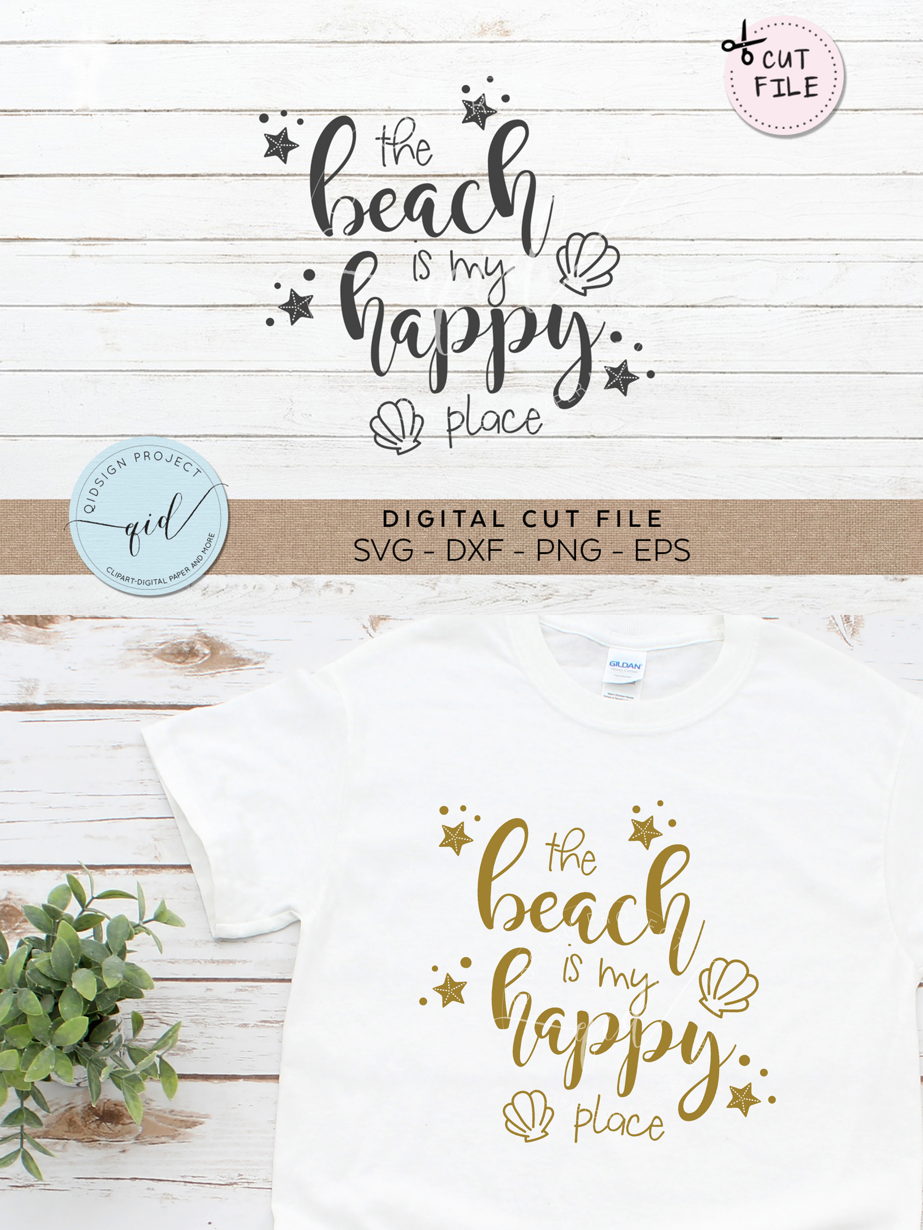The beach is my happy place clipart clipart transparent library The Beach Is My Happy Place SVG DXF PNG EPS clipart transparent library