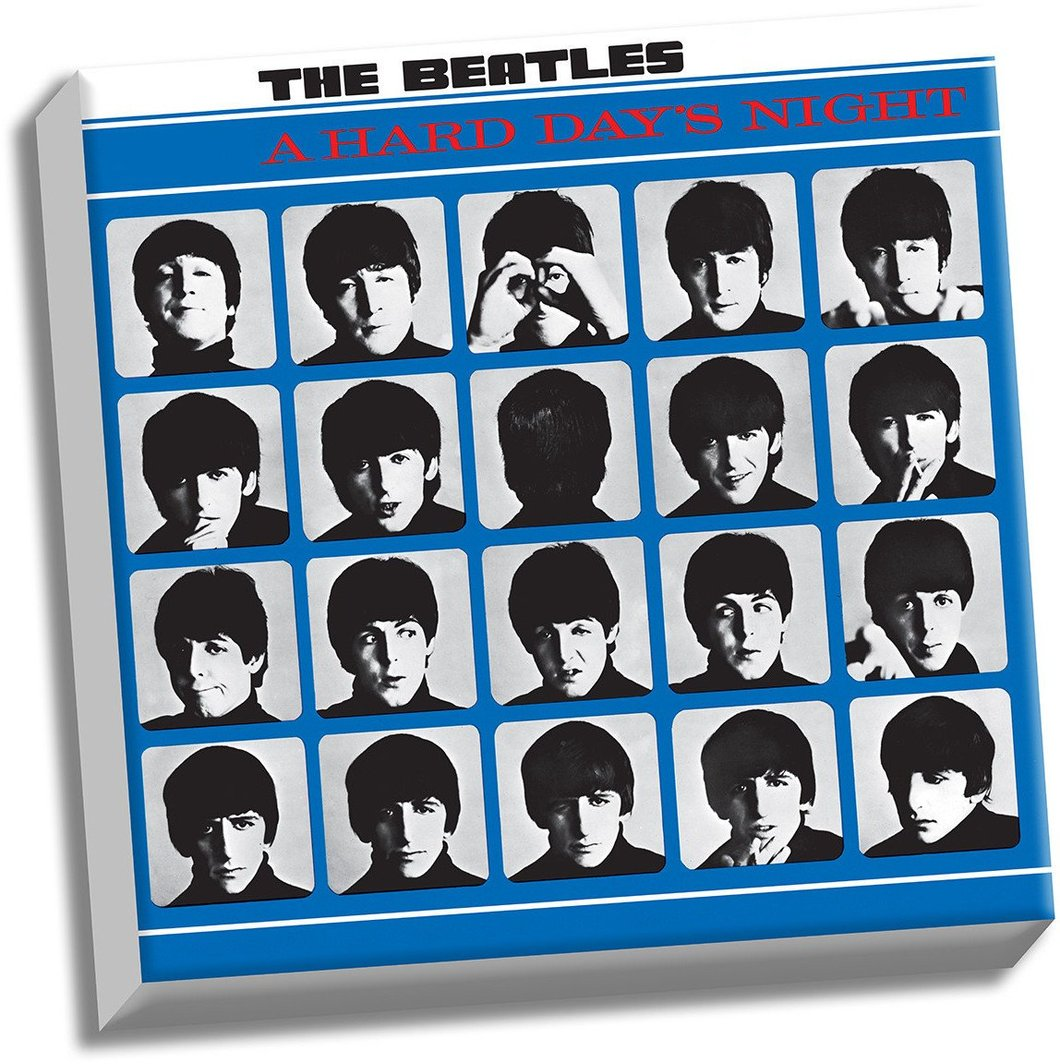 The beatles a hard day s night clipart svg library library The Beatles \'A Hard Day\'s Night\' 20x20 Stretched Canvas svg library library