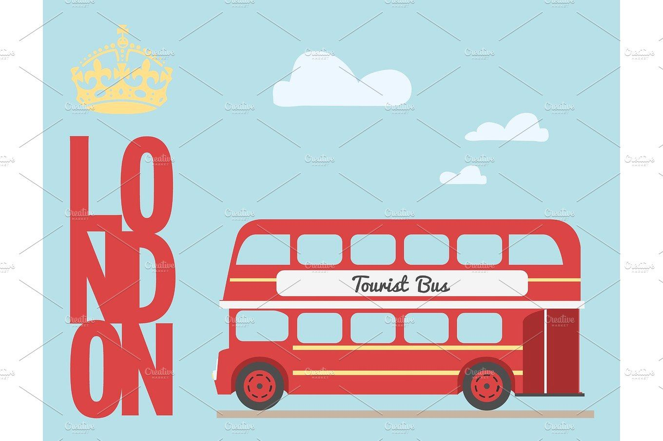 The beatles double bus clipart clipart library stock Double decker bus cartoon from England British tourist ... clipart library stock