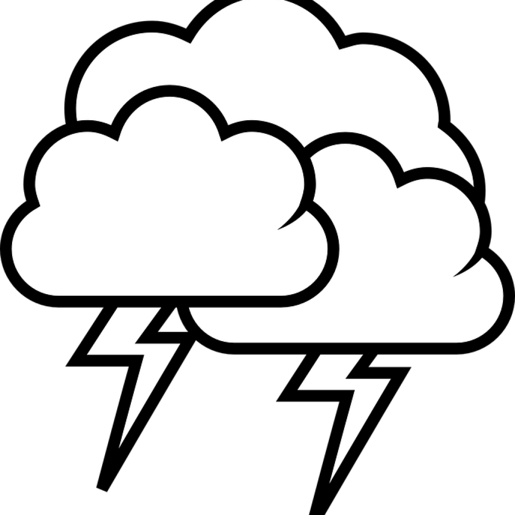 The big storm black and white clipart image royalty free download Cloud Clipart Black And White Thunderstorm Cloud Rain ... image royalty free download