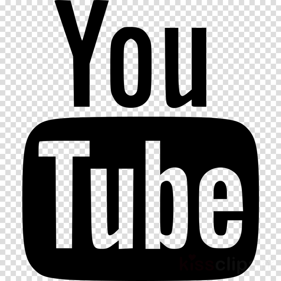 Youtube white clipart svg royalty free download Youtube Logo Black And White clipart - Youtube, transparent ... svg royalty free download