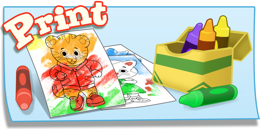 The book of daniel clipart image black and white download Coloring | Daniel Tiger's Neighborhood | PBS KIDS image black and white download