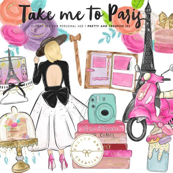 The book take me with you clipart svg library Take me to Paris Clipart, Fashion Clipart, Paris ... svg library