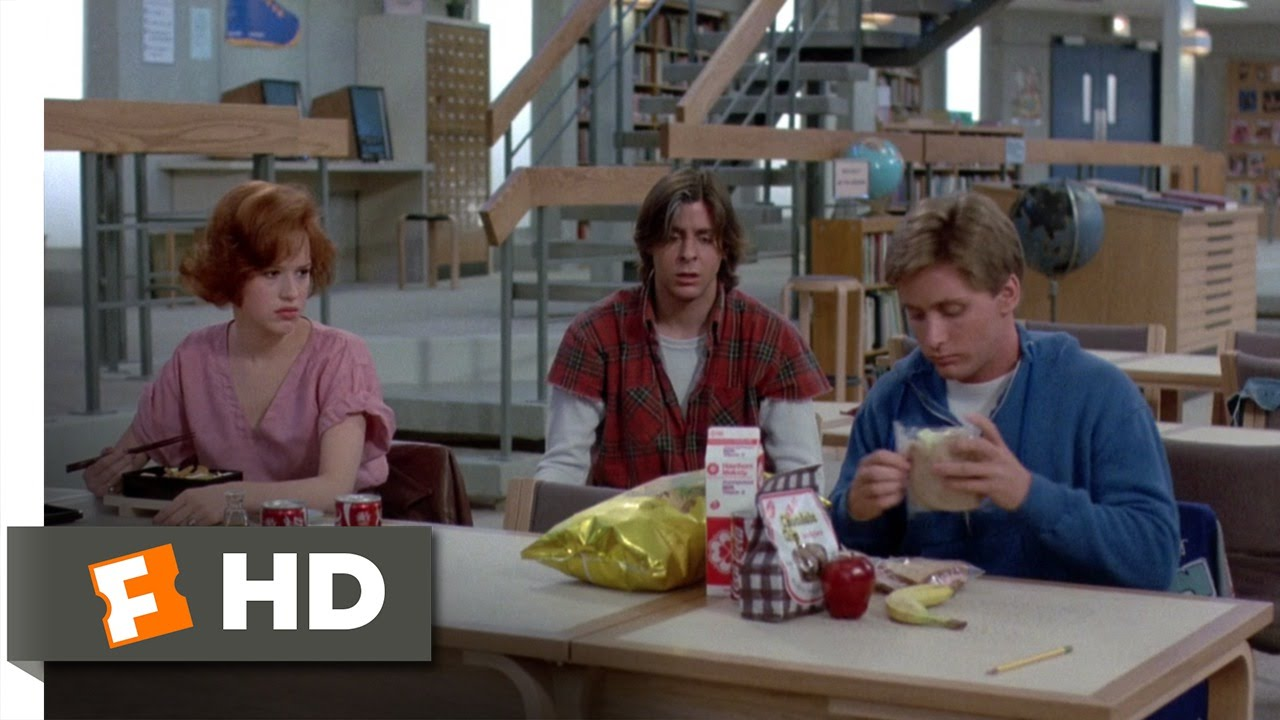 The breakfast club movie clipart picture freeuse download The Breakfast Club (6/8) Movie CLIP - Lunchtime (1985) HD picture freeuse download