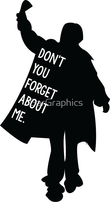 The breakfast club movie clipart graphic free Breakfast Club - Don\'t you forget about me | Art Print graphic free