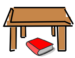 The cat sat under the table clipart jpg freeuse library Prepositions of Place, Examples, Definition, Exercises in Hindi jpg freeuse library