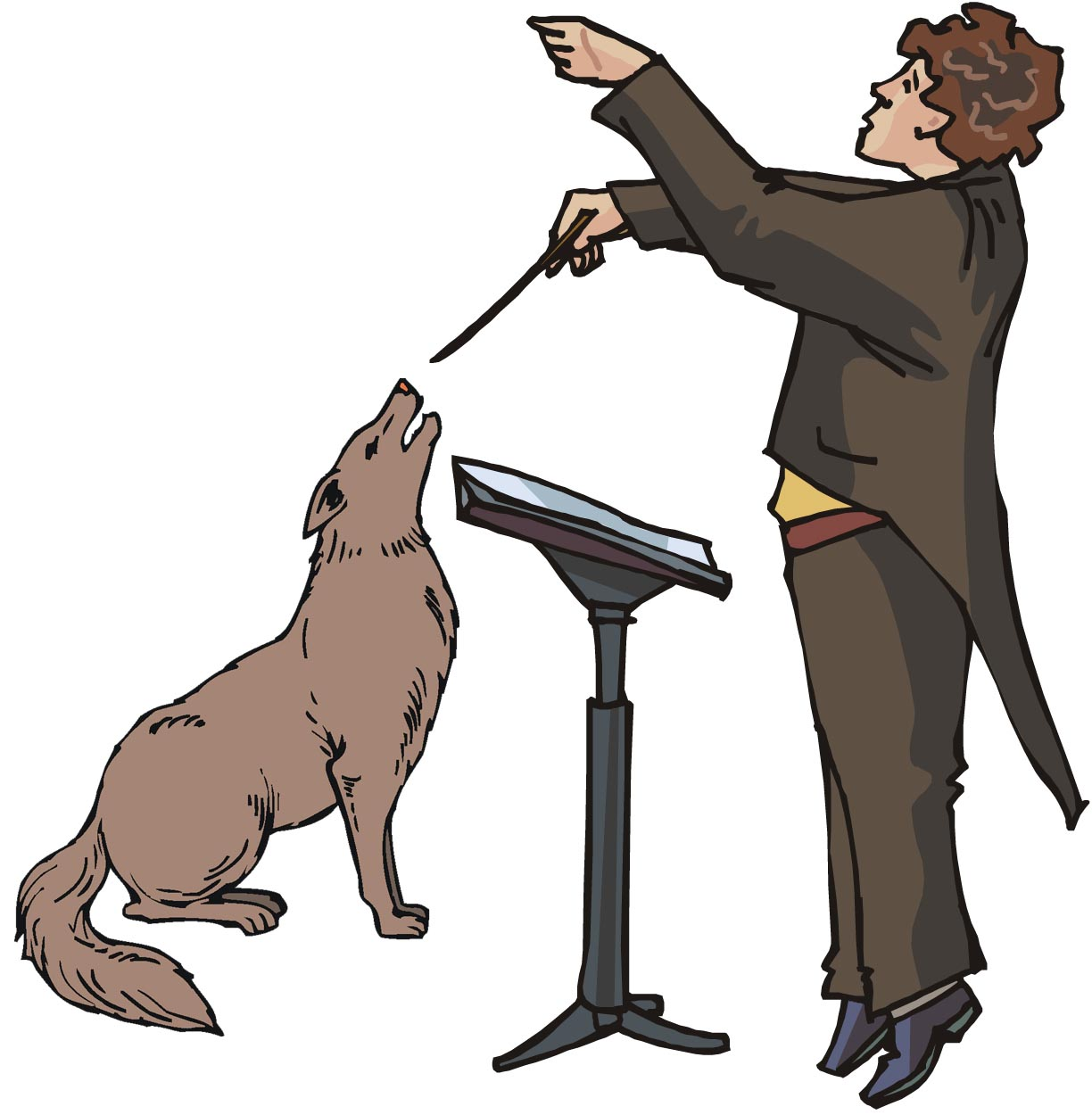 The chosen dog out of a group clipart royalty free stock Do Dogs Have a Musical Sense?   Psychology Today royalty free stock