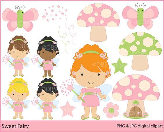 The clipart fairy printables