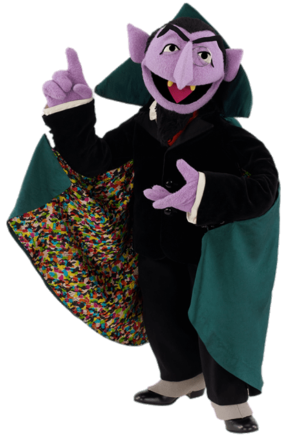 The count from sesame street clipart png banner black and white library Sesame Street Count Von Count transparent PNG - StickPNG banner black and white library