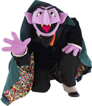 The count from sesame street clipart png vector transparent library Sesame Street Count Von Count Kneeling transparent PNG ... vector transparent library