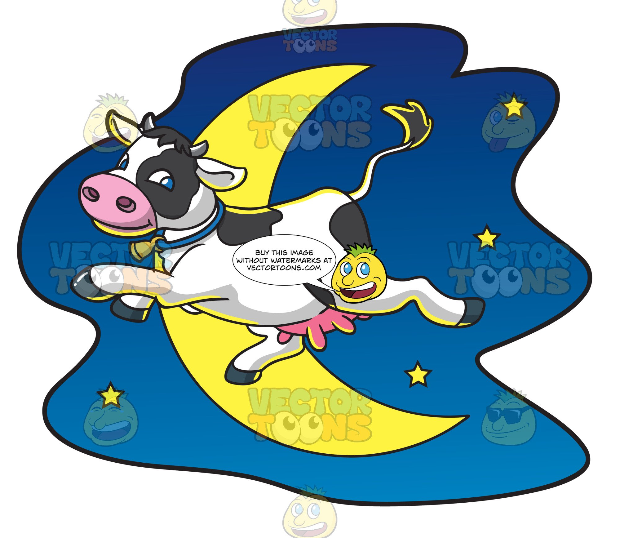 The cow jumped over the moon clipart clip free A Cow Jumps Over The Moon clip free
