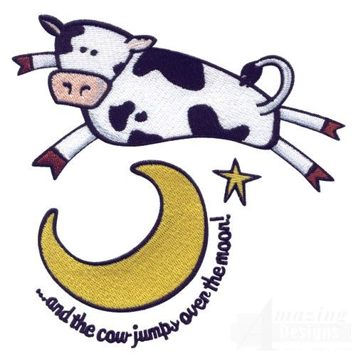 The cow jumped over the moon clipart jpg download Cow Over Moon | Props | Cow drawing, Cow, Moon rock jpg download