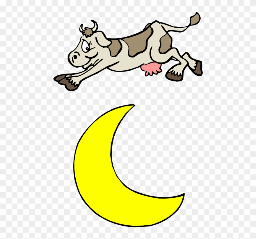The cow jumped over the moon clipart picture royalty free download Join Us On Wednesday, March 29 At - Hey Diddle Diddle Cow ... picture royalty free download