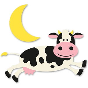 The cow jumped over the moon clipart graphic black and white library Sweetlooking Cow Jumped Over The Moon Clipart Astonishing ... graphic black and white library