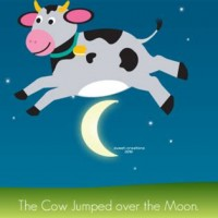 The cow jumped over the moon clipart clip freeuse download The Cow Jump Over Moon - All About Cow Photos clip freeuse download
