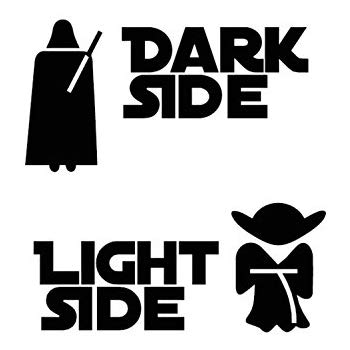The dark side clipart vector freeuse Amazon.com: Athena Star Wars Vader Dark Side - Yoda Light ... vector freeuse