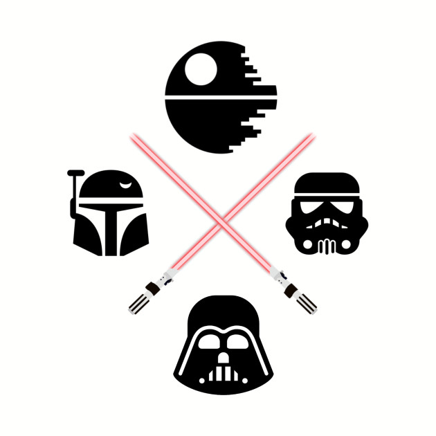 The dark side clipart vector stock Star Wars Dark Side vector stock
