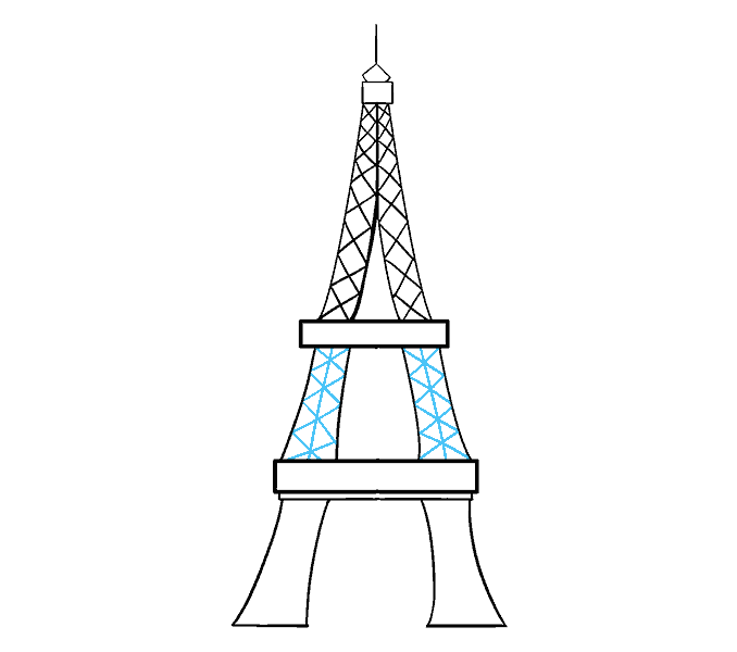 The eiffel tower with arms that flex clipart clipart free library How to Draw the Eiffel Tower in a Few Easy Steps | Easy ... clipart free library