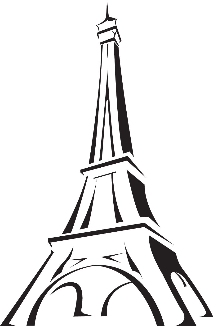 The eiffel tower with arms that flex clipart clip art transparent Gonna paint this on Avery\'s wooden Letter \