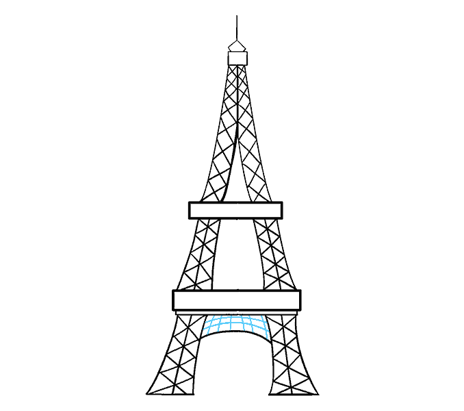The eiffel tower with arms that flex clipart jpg transparent How to Draw the Eiffel Tower in a Few Easy Steps | Easy ... jpg transparent