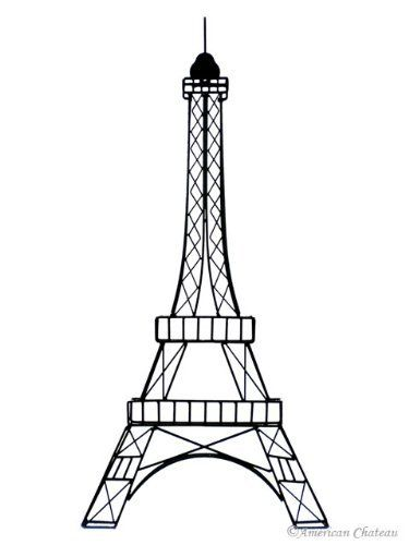 The eiffel tower with arms that flex clipart svg royalty free library Large 33\