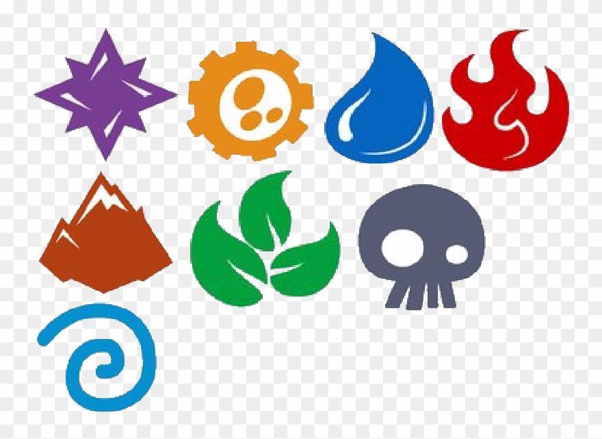 The elements clipart picture black and white Jpg Library Stock Skylanders Elements By Digiponythedigimon ... picture black and white