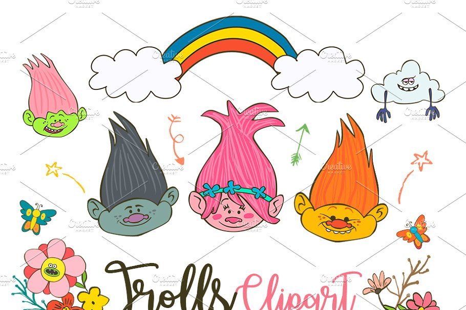 The elements clipart png freeuse download Trolls Clipart Poppy PNG elements png freeuse download