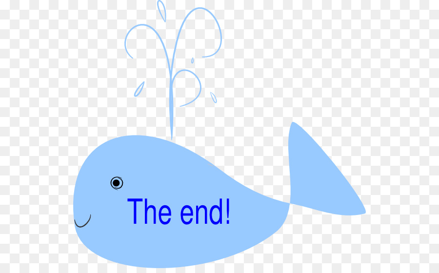 The end clipart animation free clip art Whale Cartoon png download - 600*550 - Free Transparent ... clip art