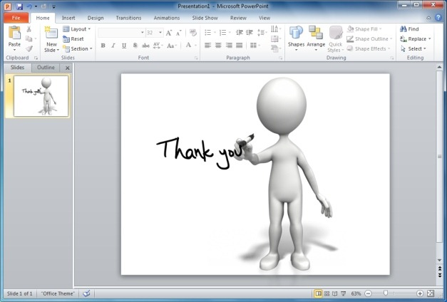 The end clipart animation free jpg library library Finish Your PowerPoint Presentations With Animated Thank You ... jpg library library