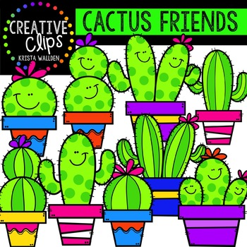 The final week is here clipart images image library download Cactus Friends {Creative Clips Digital Clipart} | Fonts ... image library download