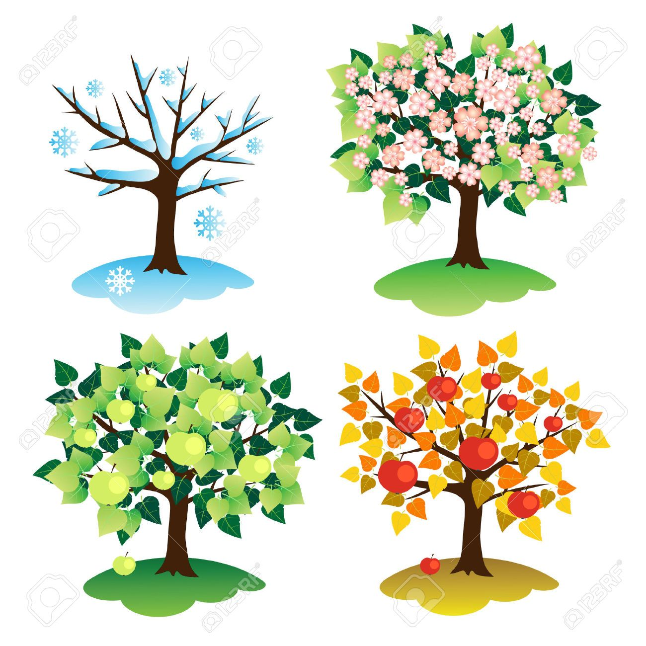 The four seasons clipart banner royalty free 4 seasons clipart 1 » Clipart Station banner royalty free