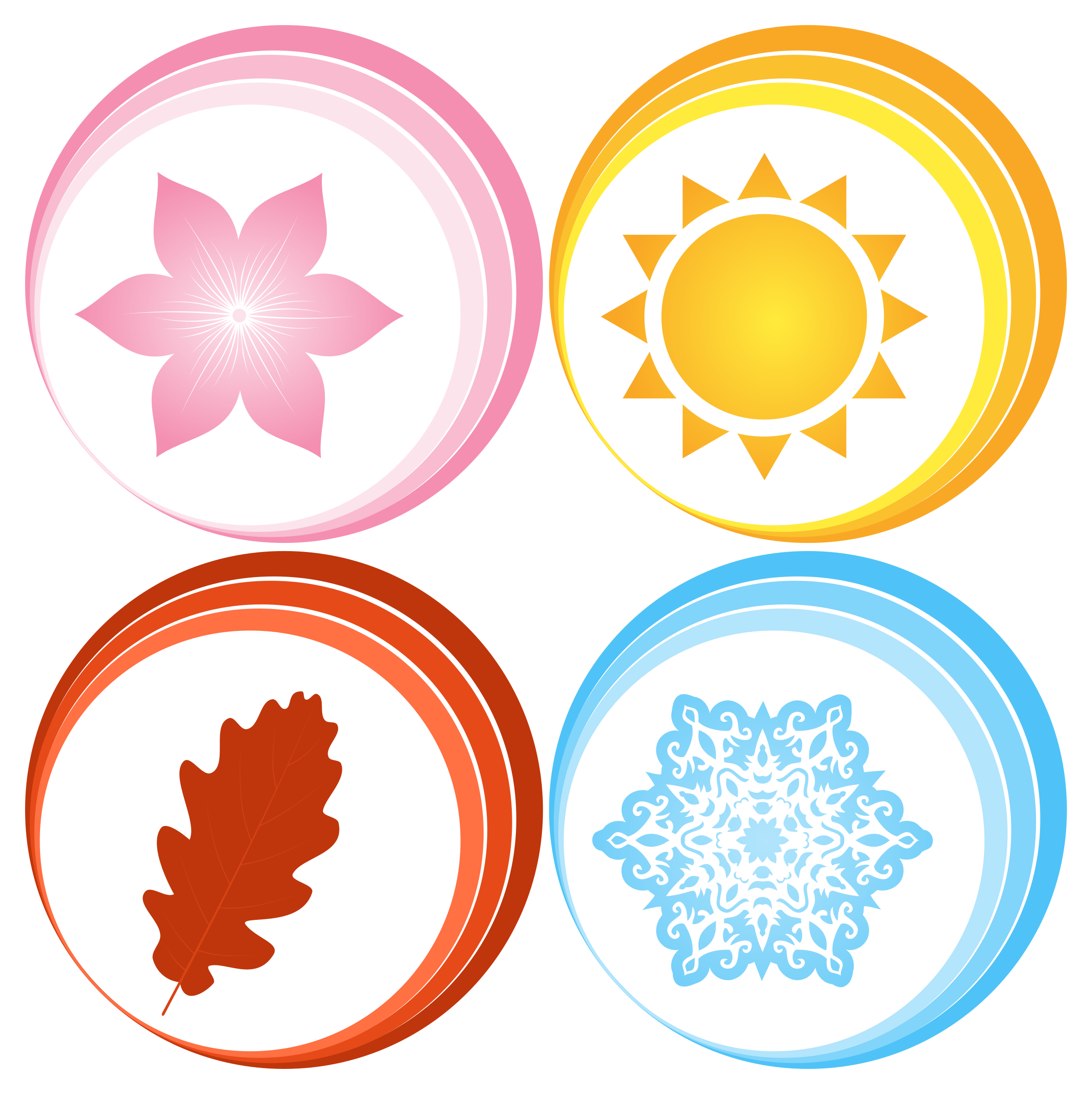The four seasons clipart vector library library Symbols for Four Seasons Vector Clipart image - Free stock ... vector library library