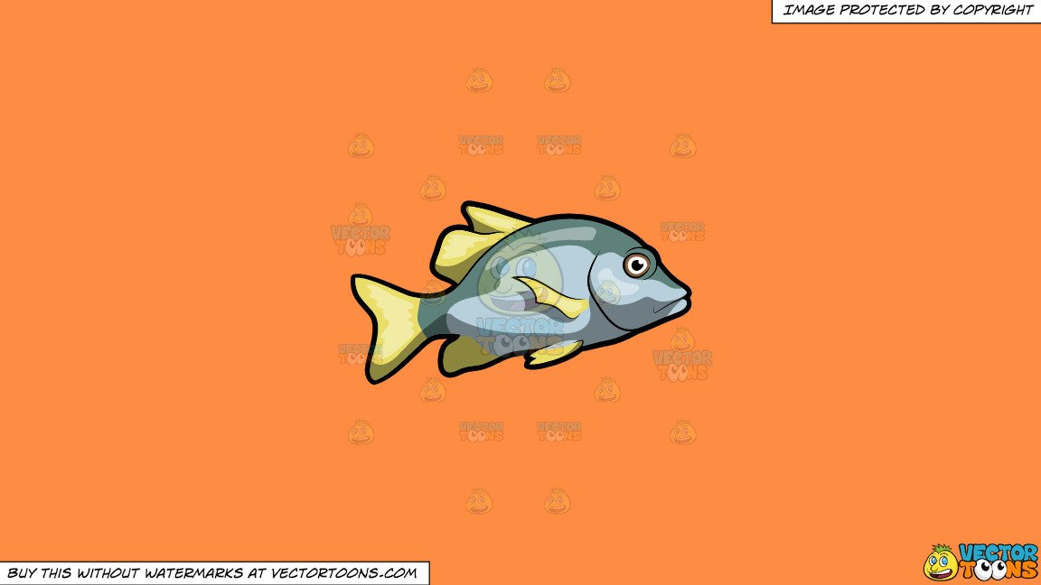 The galley fish bone clipart freeuse library Clipart: A Virginalis Blotch Fish on a Solid Mango Orange Ff8C42 Background freeuse library