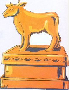 The golden calf clipart black and white graphic free download 26 Best Moses - Golden Calf images in 2019 | Golden calf ... graphic free download