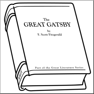 The great gatsby clipart clipart library Clip Art: Book: The Great Gatsby B&W I abcteach.com   abcteach clipart library