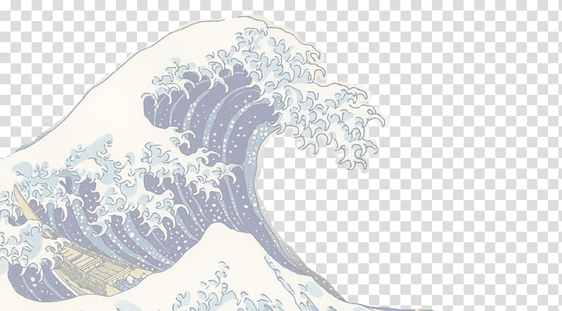 The great wave off kanagawa clipart graphic black and white The Great Wave off Kanagawa Japanese art Ukiyo-e, japan ... graphic black and white