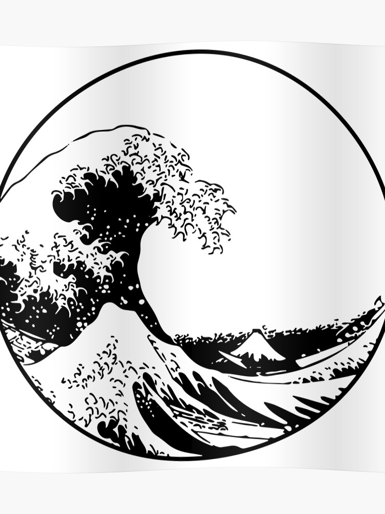 The great wave off kanagawa clipart svg free download The Great Wave off Kanagawa   Poster svg free download