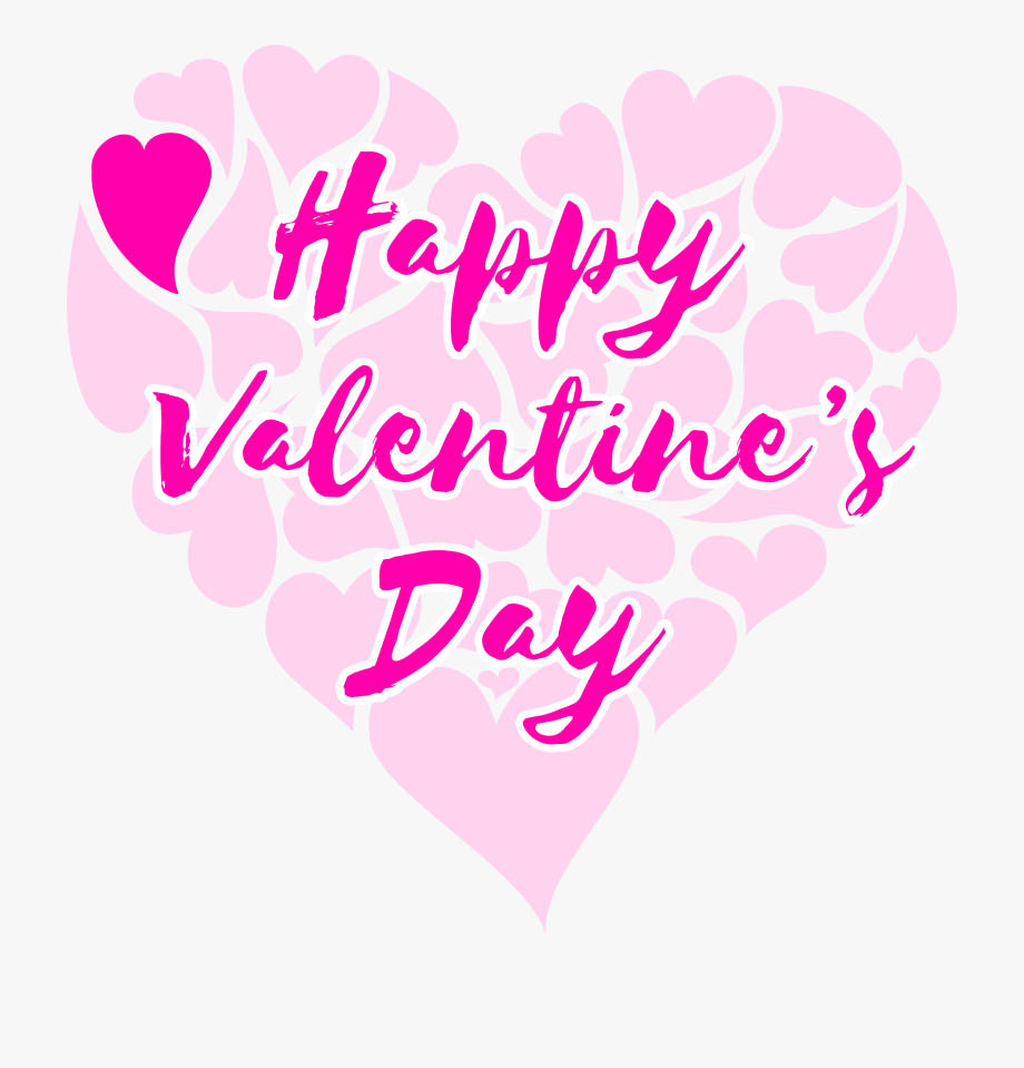 The heart title clipart image library Clipart Happy Valentine 039 S Day Title With Hearts - Happy ... image library