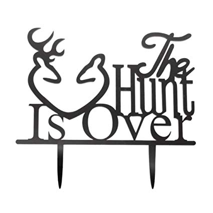 The hunt is over clipart vector transparent Amazon.com: TOOGOO(R) Wedding Anniversary Cake Topper The ... vector transparent