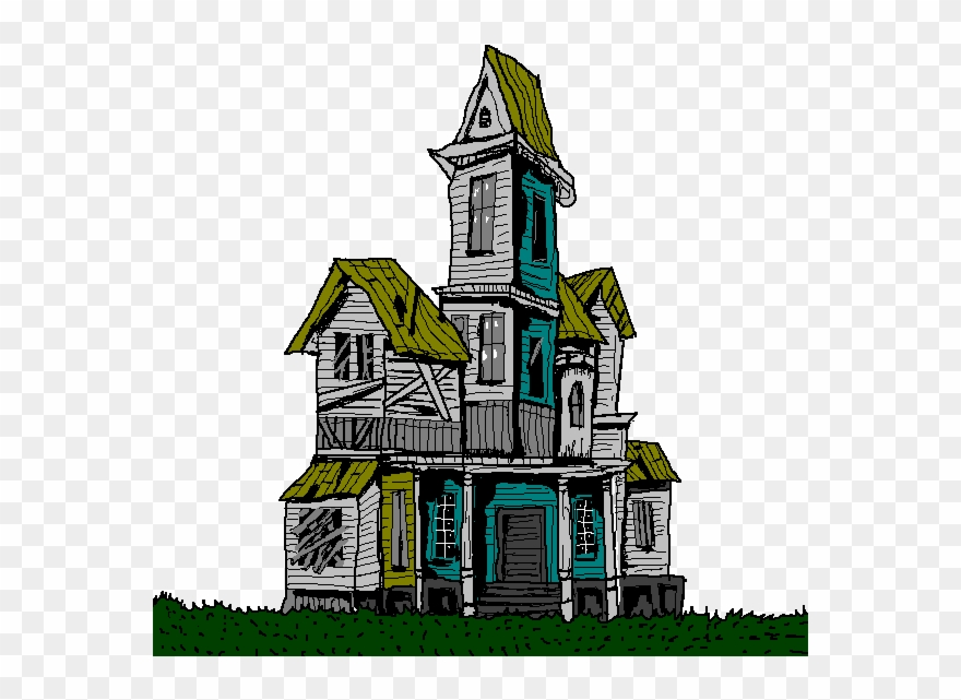 The inside of a spooky house clipart image royalty free Old House Clipart Spooky - Clip Art Haunted Mansion - Png ... image royalty free