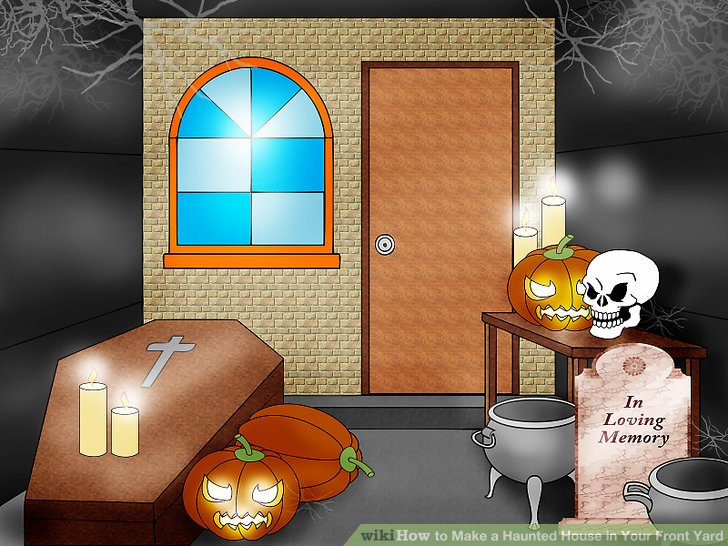 The inside of a spooky house clipart image royalty free stock How to Make a Haunted House in Your Front Yard: 7 Steps image royalty free stock