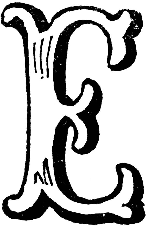 The letter e clipart