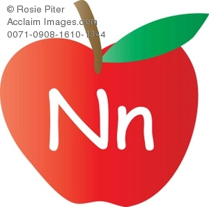 The letter n clipart graphic royalty free stock Clip Art Illustration Of An Apple With The Letter N Written On It ... graphic royalty free stock